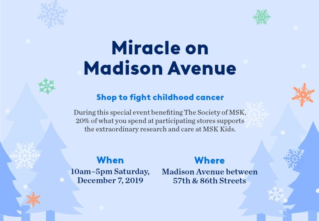 Miracle on Madison takes place on Saturday, December 7.