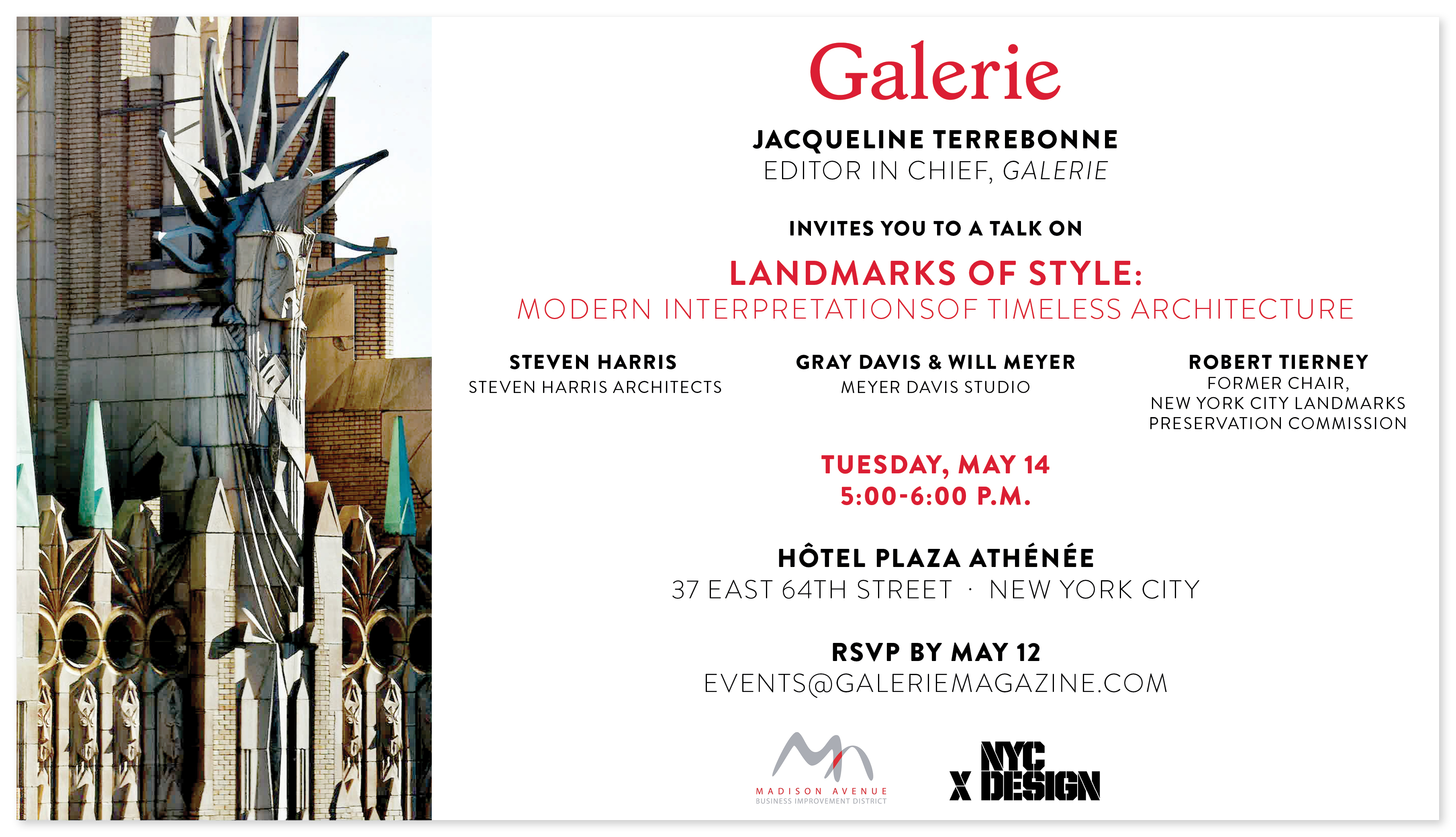(English) Galerie Magazine Panel on Landmarks of Style, May 14